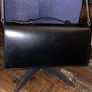 Valentino Bags - Genuine Valentino Black Leather Cross Body Clutch